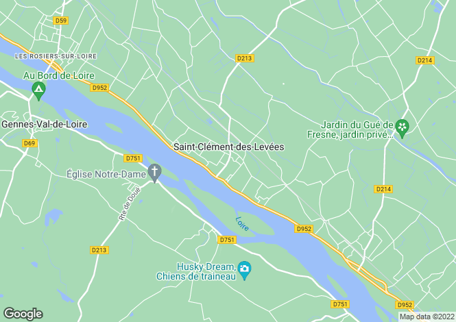 Map for Saint-Clément-des-Levées, 49350, France