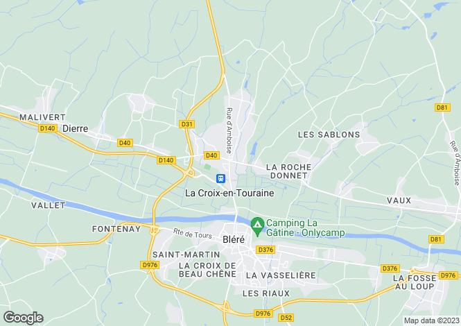 Map for La Croix-en-Touraine, Indre-et-Loire, Centre