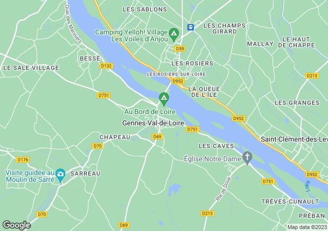 Map for Gennes, Maine-et-Loire, Pays de la Loire