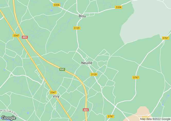 Map for NEUILLE, 49680, France