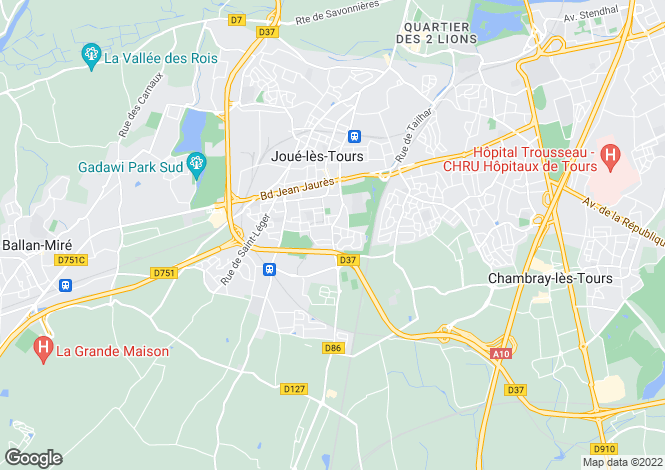 Map for joue-les-tours, Indre-et-Loire, France