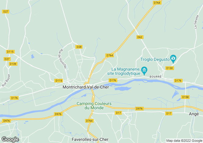 Map for Centre, Loir-et-Cher, Montrichard
