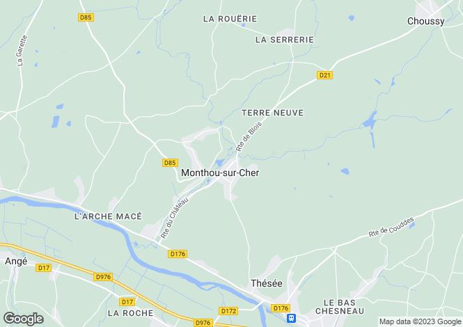 Map for monthou-sur-cher, Loir-et-Cher, France