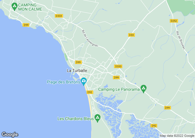 Map for la-turballe, Loire-Atlantique, France
