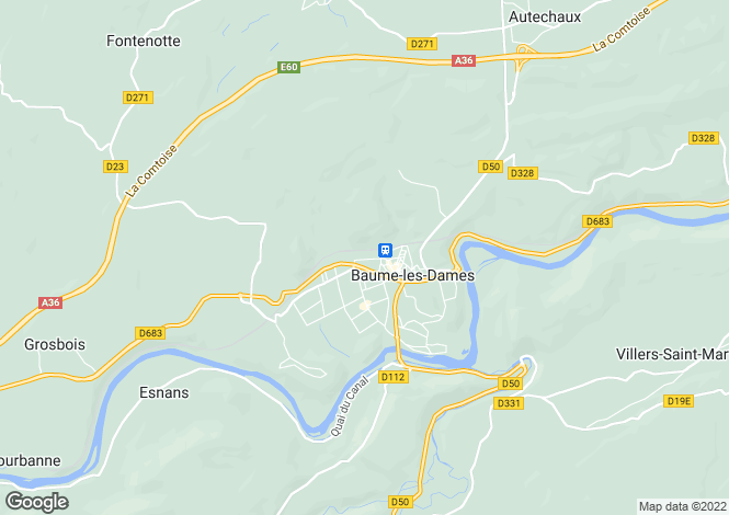 Map for 25110 baume-les-dames