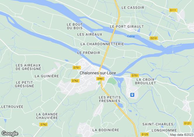 Map for chalonnes-sur-loire, Maine-et-Loire, France