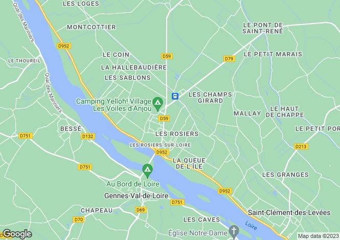 Map for LES ROSIERS SUR LOIRE, 49350, France
