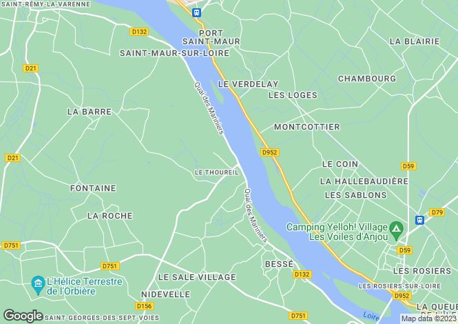Map for Le Thoureil, Maine-et-Loire, Pays de la Loire