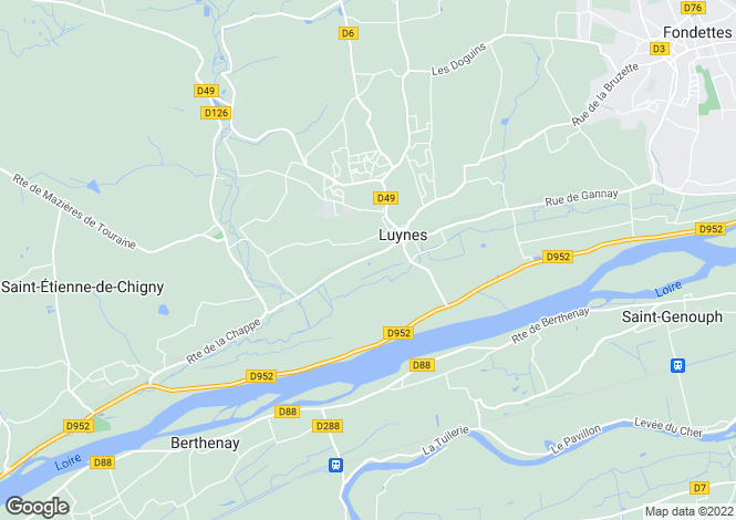 Map for luynes, Indre-et-Loire, France