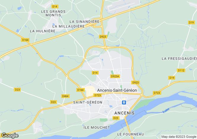 Map for Pays de la Loire, Loire-Atlantique, Ancenis