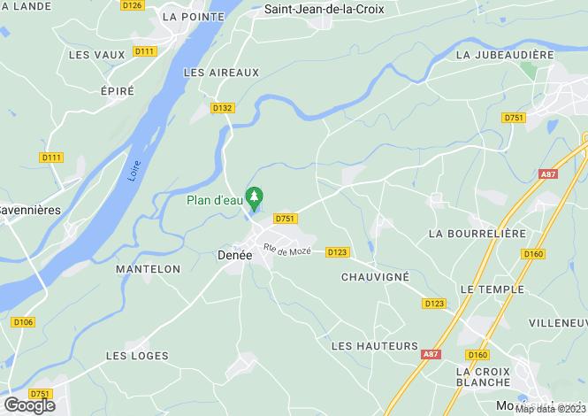 Map for Denée, Maine-et-Loire, Pays de la Loire