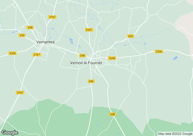 Map for Vernoil-le-Fourrier, 49390, France