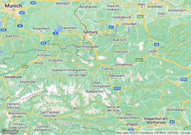 Map for Russbach, Salzburg