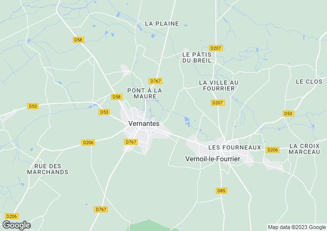 Map for Vernantes, Maine-et-Loire, Pays de la Loire
