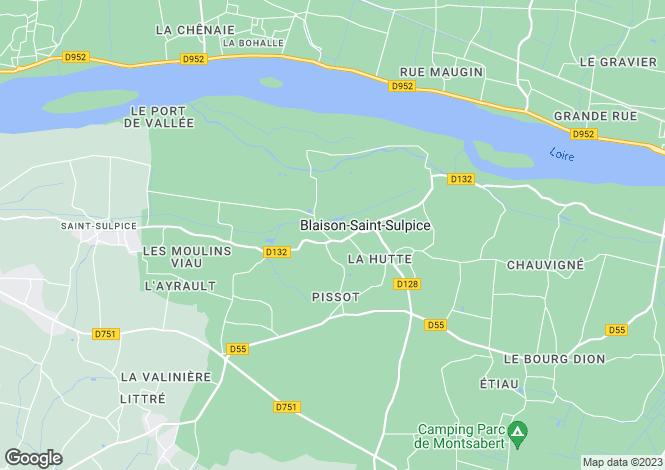 Map for blaison-gohier, Maine-et-Loire, France