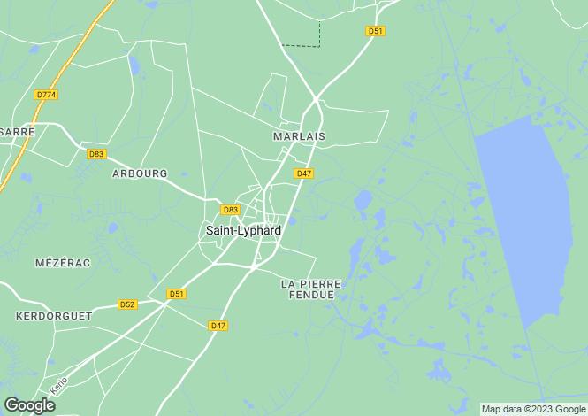 Map for st-lyphard, Loire-Atlantique, France