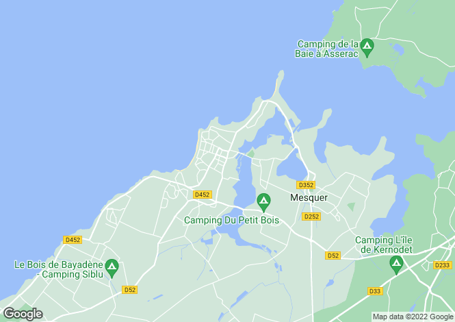 Map for quimiac, Loire-Atlantique, France