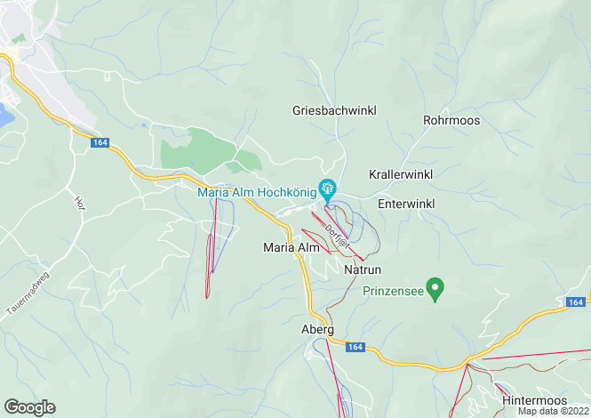 Map for Maria Alm, Salzburg