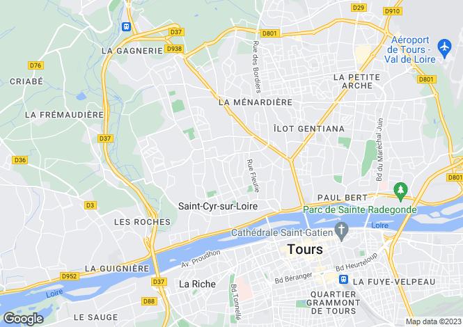 Map for , Indre-et-Loire, France
