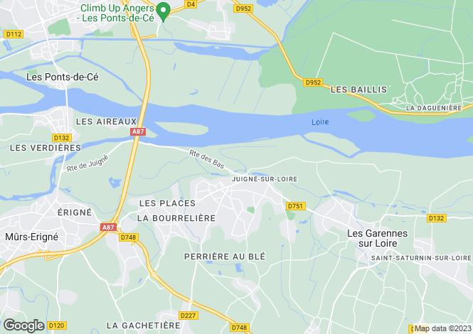 Map for Pays de la Loire, Maine-et-Loire, Juigné-sur-Loire