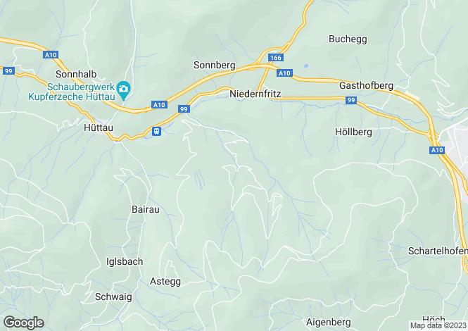Map for Salzburg, Tennegau, Hüttau, Austria