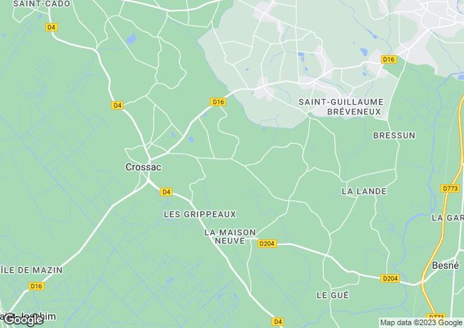 Map for crossac, Loire-Atlantique, France