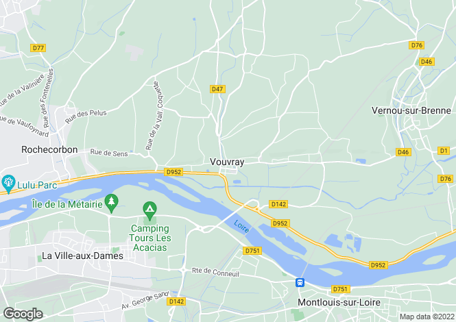 Map for Vouvray, Near Tours, Touraine
