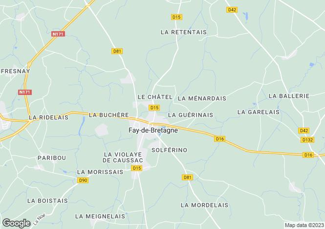 Map for fay-de-bretagne, Loire-Atlantique, France