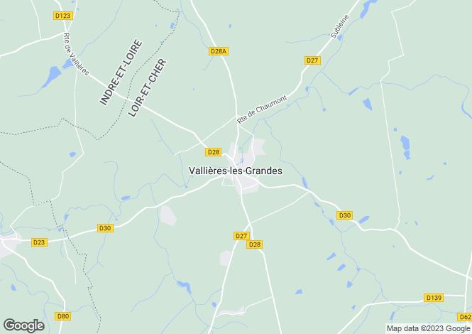 Map for Centre, Loir-et-Cher, Vallières-les-Grandes