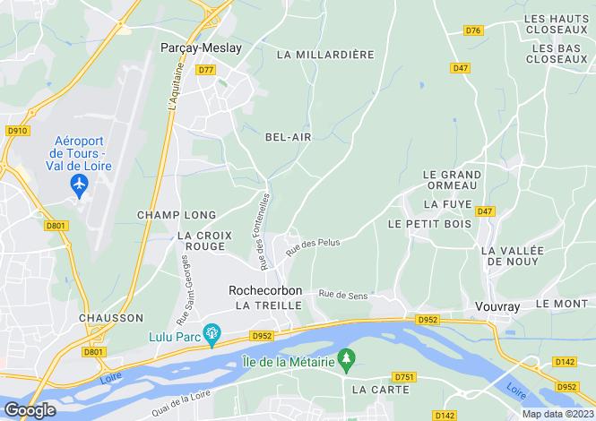 Map for rochecorbon, Indre-et-Loire, France