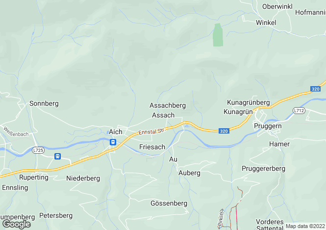 Map for Oberösterreich, Salzburg-Umgebung, Gröbming, Austria