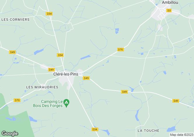 Map for Centre, Indre-et-Loire, Cléré-les-Pins