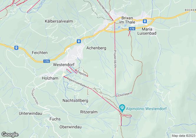 Map for Tyrol, Kitzbühel, Westendorf