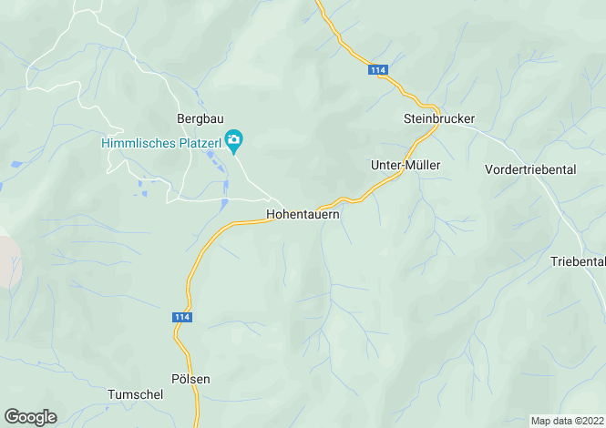 Map for Styria, Hohentauern