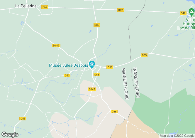 Map for PARCAY LES PINS, 49390, France
