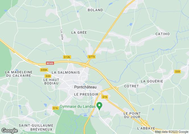 Map for pontchateau, Loire-Atlantique, France