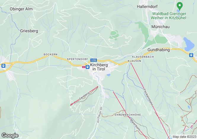 Map for Chalet Kirchberg, Kirchberg, Austria