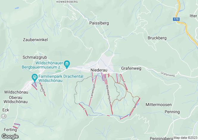 Map for Tirol, Kufstein, Niederau, Austria