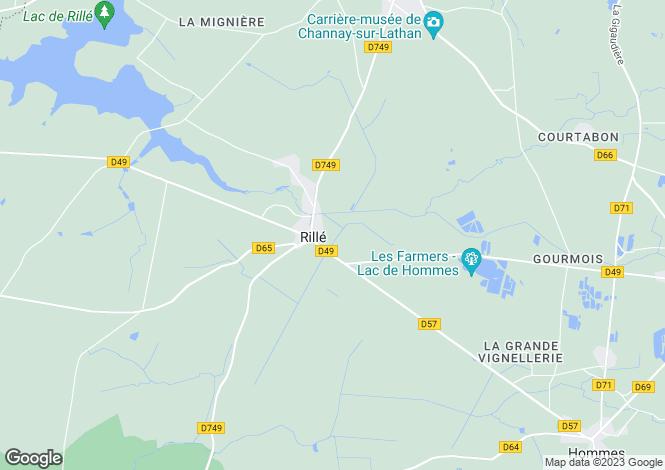 Map for rille, Indre-et-Loire, France