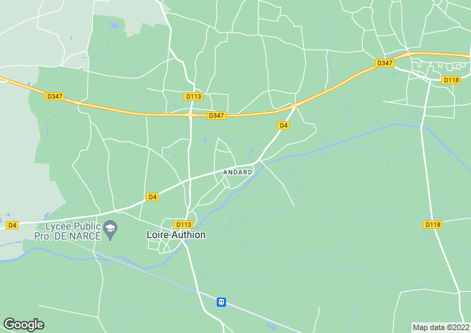 Map for andard, Maine-et-Loire, France