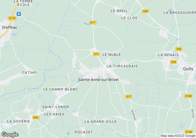 Map for ste-anne-sur-brivet, Loire-Atlantique, France