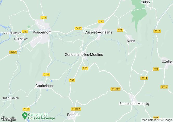 Map for 25680 gondenans-les-moulins