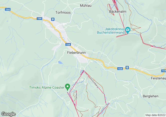 Map for Fieberbrunn, Kitzbühel, Tyrol