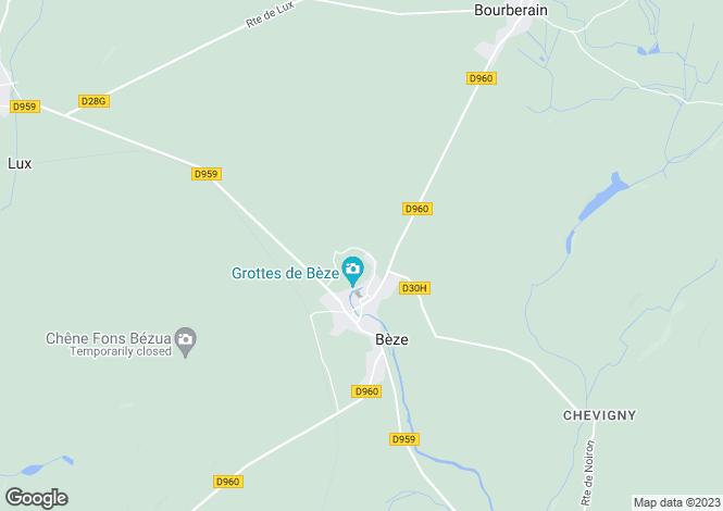 Map for Burgundy, Côte-d`Or, Bèze