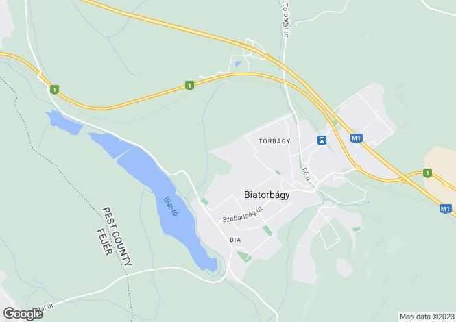 Map for Biatorbágy, Pest