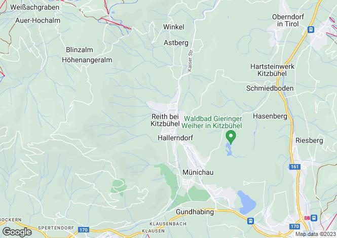 Map for Chalet Reith, Kitzbuhel, Tirol, Austria