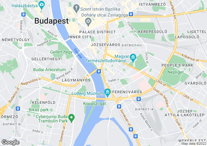Map for District Ix, Budapest