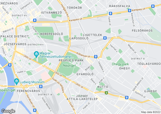 Map for District X, Budapest