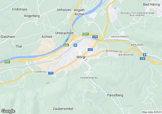 Map for Worgl Estate, Worgl, Austria