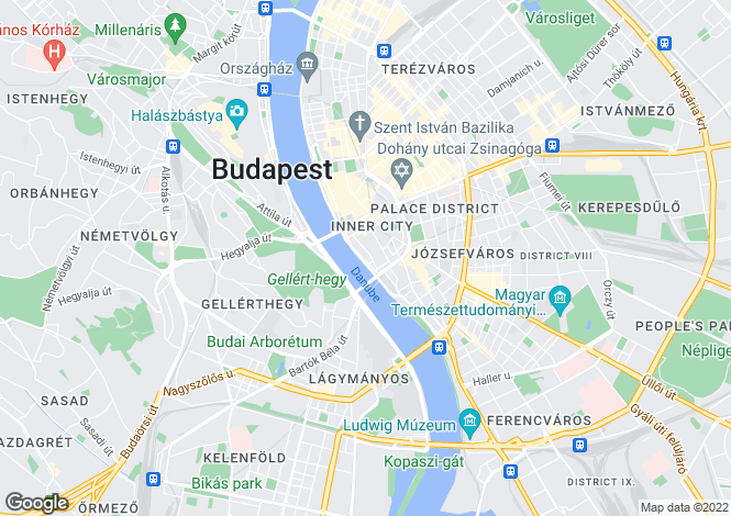 Map for Budapest, District V
